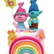 tarta trolls arcoiris